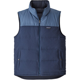 Patagonia Reversible Bivy Down Vest Men stone blue/woolly blue